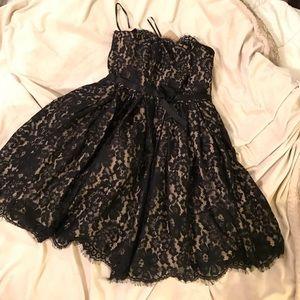 Black lace strapless  dress size 4